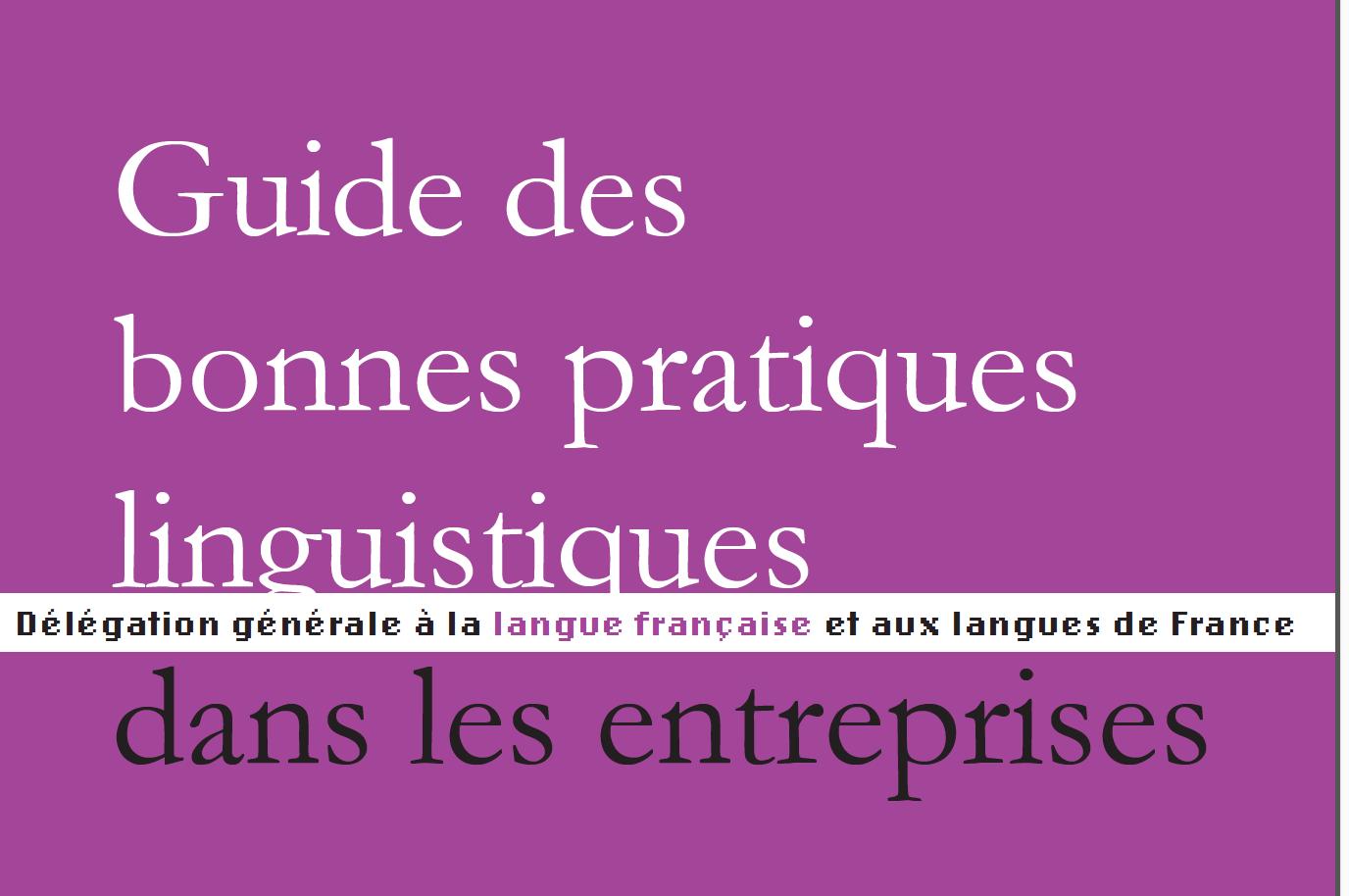 Guide des bonnes pratiques linguistiques dans les entreprises